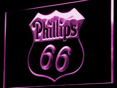 Phillips 66 Gasoline LED Neon Sign - Purple - SafeSpecial
