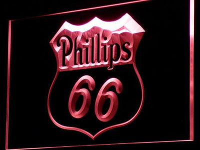 Phillips 66 Gasoline LED Neon Sign - Red - SafeSpecial
