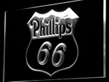 Phillips 66 Gasoline LED Neon Sign - White - SafeSpecial
