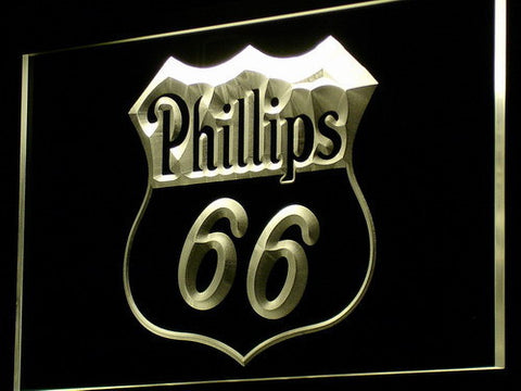 Phillips 66 Gasoline LED Neon Sign - Yellow - SafeSpecial
