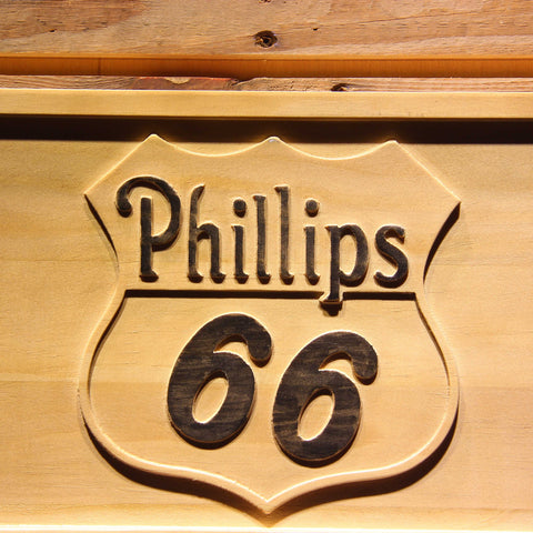 Phillips 66 Gasoline Wooden Sign - - SafeSpecial
