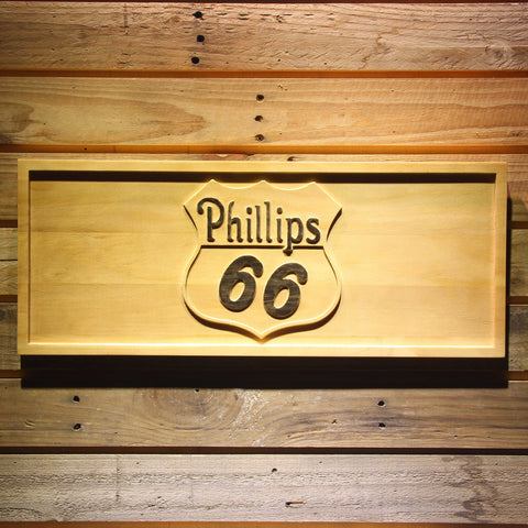 Image of Phillips 66 Gasoline Wooden Sign - Small - SafeSpecial