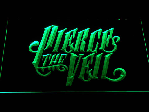 Pierce the Veil LED Neon Sign - Green - SafeSpecial