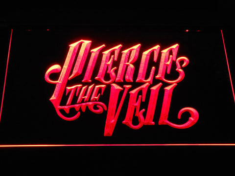 Pierce the Veil LED Neon Sign - Red - SafeSpecial