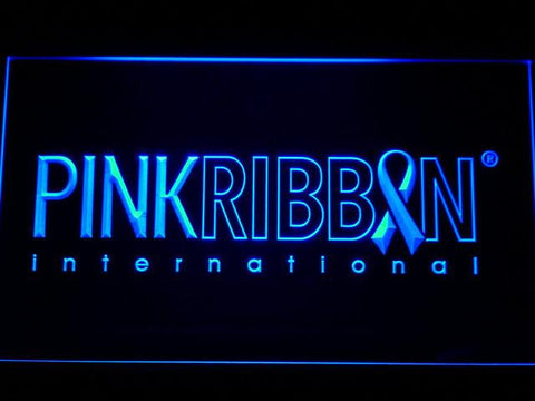 Pink Ribbon International LED Neon Sign - Blue - SafeSpecial