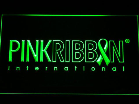 Pink Ribbon International LED Neon Sign - Green - SafeSpecial