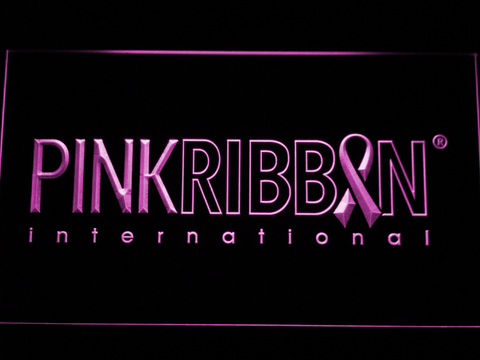 Pink Ribbon International LED Neon Sign - Purple - SafeSpecial