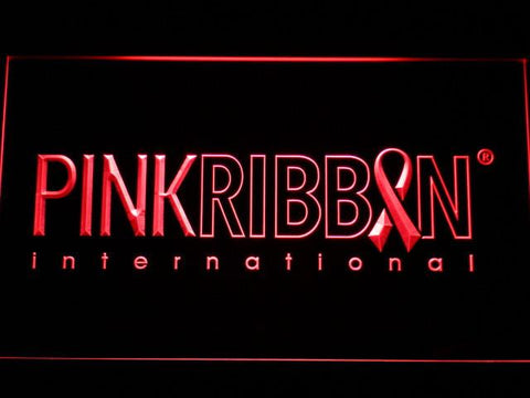 Pink Ribbon International LED Neon Sign - Red - SafeSpecial