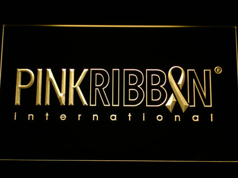 Pink Ribbon International LED Neon Sign - Yellow - SafeSpecial
