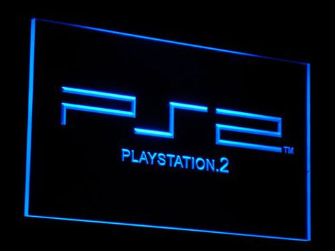 PlayStation PS2 LED Neon Sign - Blue - SafeSpecial