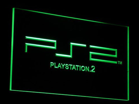 PlayStation PS2 LED Neon Sign - Green - SafeSpecial