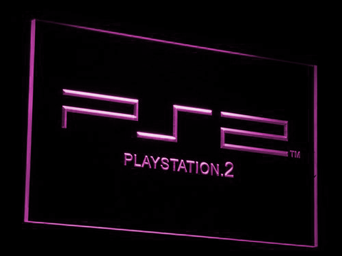 PlayStation PS2 LED Neon Sign - Purple - SafeSpecial