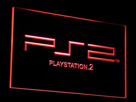PlayStation PS2 LED Neon Sign - Red - SafeSpecial