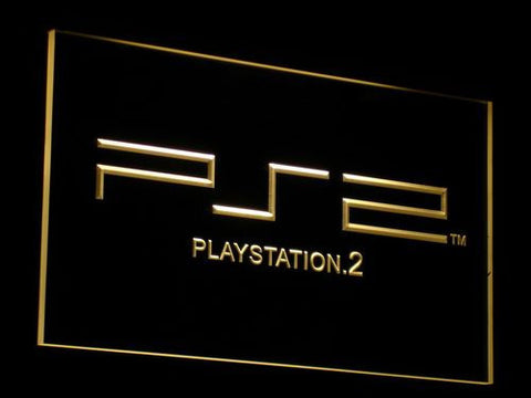 PlayStation PS2 LED Neon Sign - Yellow - SafeSpecial