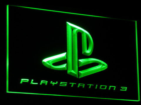 Image of PlayStation PS3 LED Neon Sign - Green - SafeSpecial