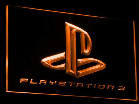Image of PlayStation PS3 LED Neon Sign - Orange - SafeSpecial