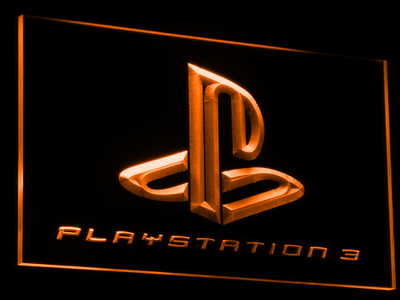 PlayStation PS3 LED Neon Sign - Orange - SafeSpecial