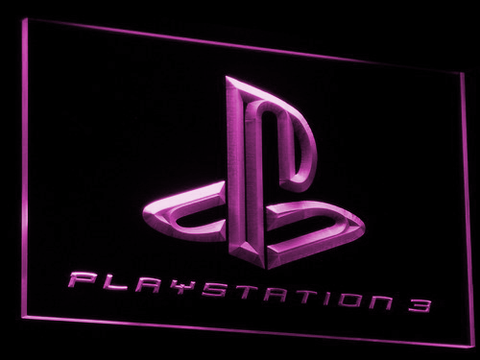 Image of PlayStation PS3 LED Neon Sign - Purple - SafeSpecial