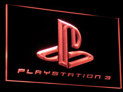 PlayStation PS3 LED Neon Sign - Red - SafeSpecial