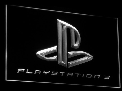 Image of PlayStation PS3 LED Neon Sign - White - SafeSpecial