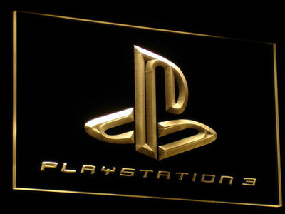 PlayStation PS3 LED Neon Sign - Yellow - SafeSpecial