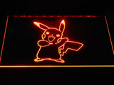 Pokemon Pikachu LED Neon Sign - Orange - SafeSpecial