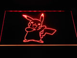 Pokemon Pikachu LED Neon Sign - Red - SafeSpecial