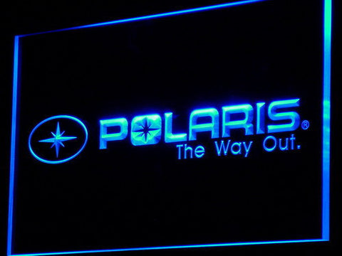 Image of Polaris All Terrain LED Neon Sign - Blue - SafeSpecial