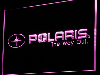 Polaris All Terrain LED Neon Sign - Purple - SafeSpecial