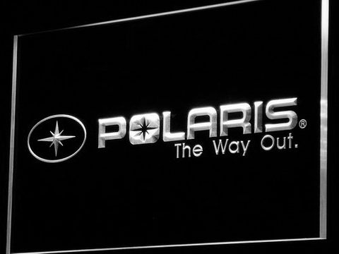 Image of Polaris All Terrain LED Neon Sign - White - SafeSpecial