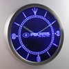 Polaris LED Neon Wall Clock - Blue - SafeSpecial