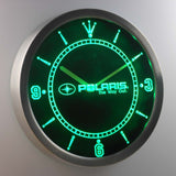 Polaris LED Neon Wall Clock - Green - SafeSpecial
