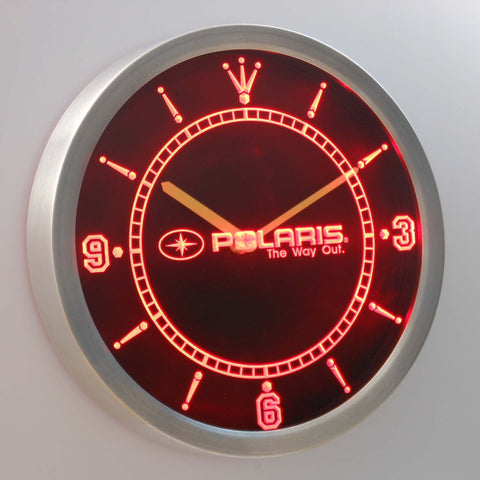 Polaris LED Neon Wall Clock - Red - SafeSpecial