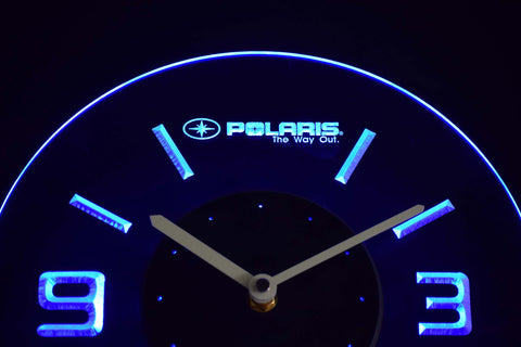 Polaris Modern LED Neon Wall Clock - Blue - SafeSpecial