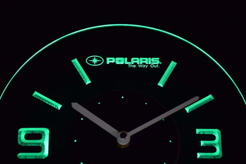 Polaris Modern LED Neon Wall Clock - Green - SafeSpecial