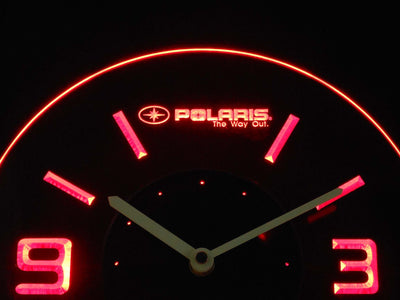 Polaris Modern LED Neon Wall Clock - Red - SafeSpecial