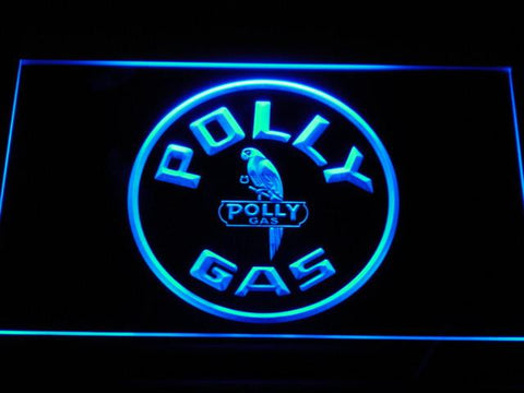 Image of Polly Gas LED Neon Sign - Blue - SafeSpecial