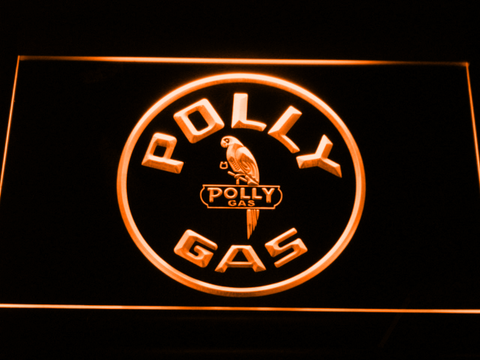 Image of Polly Gas LED Neon Sign - Orange - SafeSpecial