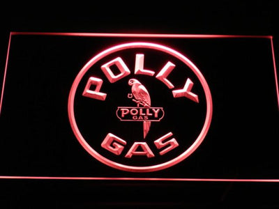 Polly Gas LED Neon Sign - Red - SafeSpecial