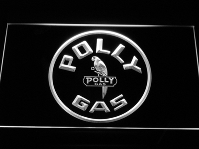 Polly Gas LED Neon Sign - White - SafeSpecial