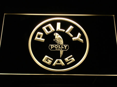 Image of Polly Gas LED Neon Sign - Yellow - SafeSpecial