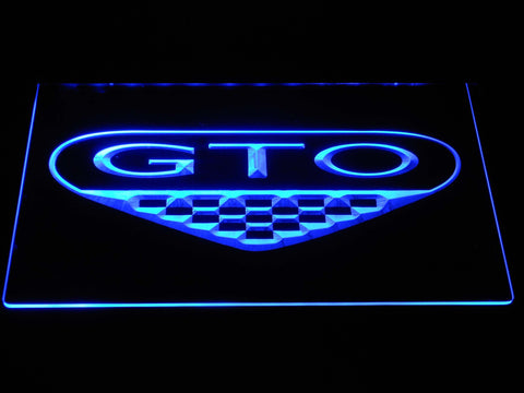 Image of Pontiac GTO LED Neon Sign - Blue - SafeSpecial
