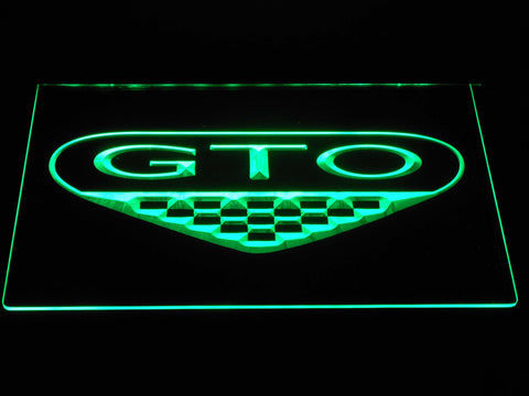 Image of Pontiac GTO LED Neon Sign - Green - SafeSpecial