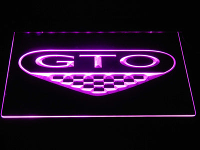 Pontiac GTO LED Neon Sign - Purple - SafeSpecial