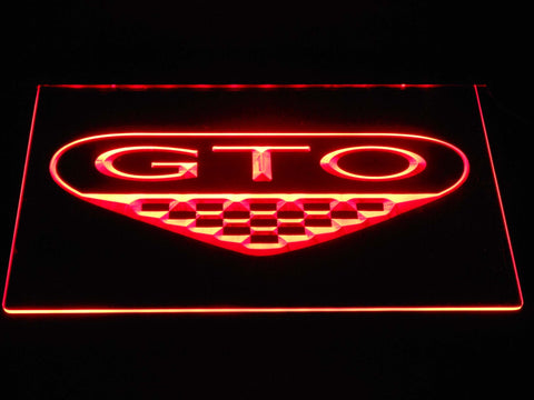 Image of Pontiac GTO LED Neon Sign - Red - SafeSpecial