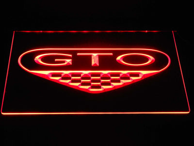 Pontiac GTO LED Neon Sign - Red - SafeSpecial