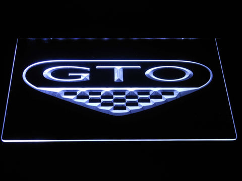 Image of Pontiac GTO LED Neon Sign - White - SafeSpecial