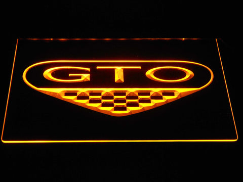Image of Pontiac GTO LED Neon Sign - Yellow - SafeSpecial