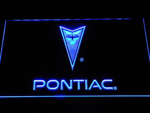 Image of Pontiac LED Neon Sign - Blue - SafeSpecial