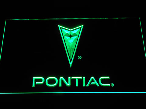 Image of Pontiac LED Neon Sign - Green - SafeSpecial